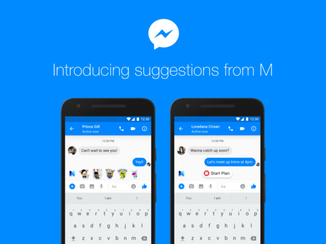 Facebooke Messenger M l'assistente