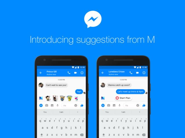Facebooke Messenger M l'assistente