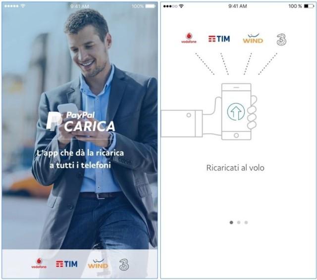 PayPal Carica ricarica Wind, Tim, Vodafone, Tre Italia