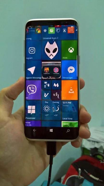 Galaxy S8 con Windows 10 Mobile