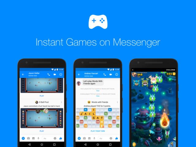 Facebook Messenger Giochi Istantanei