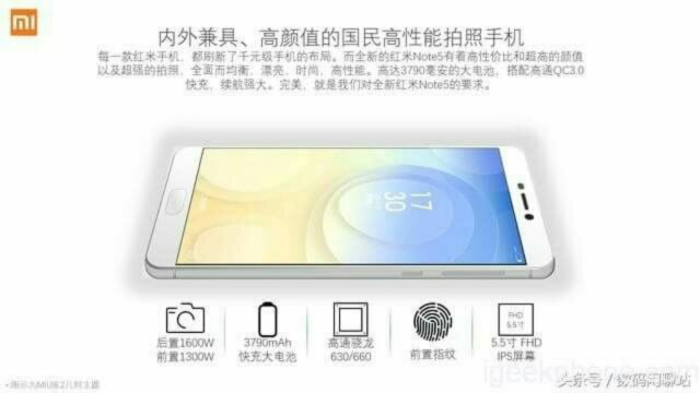 Xiaomi Redmi Note 5 rumors