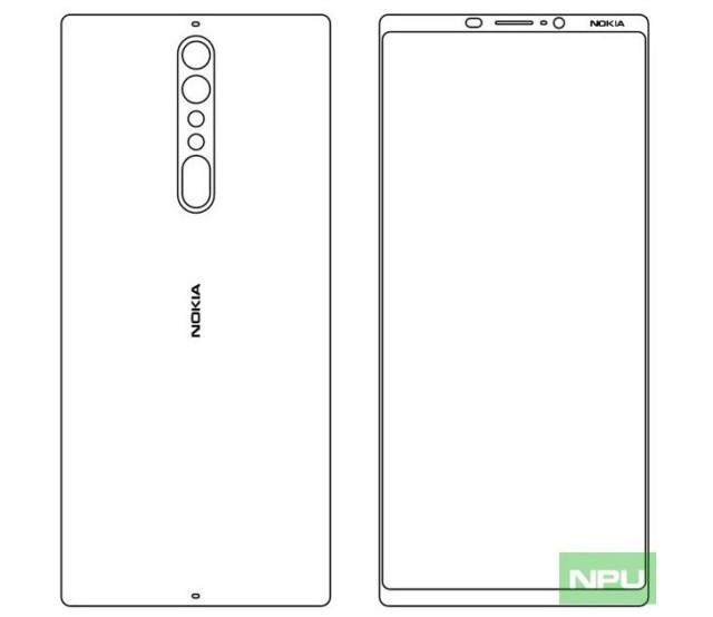 Nokia 9 con display più grande di Nokia 8