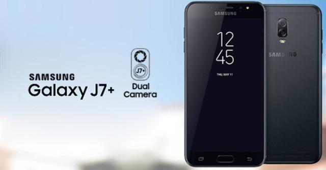 Samsung Galaxy j7+ con dual camera