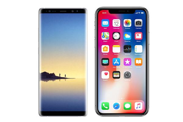 Galaxy S8 vs Note 8 vs iPhone X benchmark