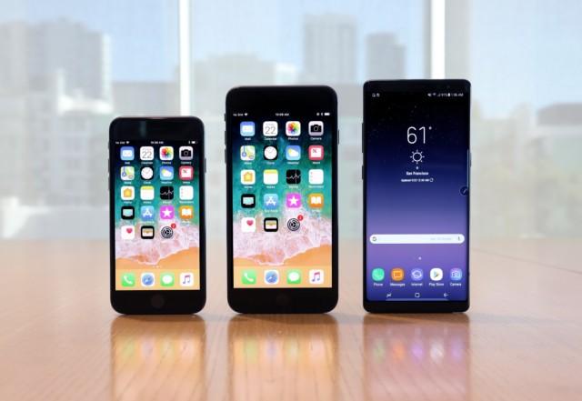 Galaxy Note 8 vs iPhone 8 vs iPhone 8 plus