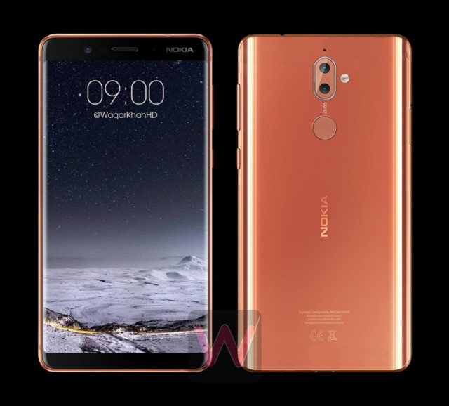 Nokia 9 render mostrano il design con display curvo borderless