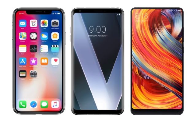 iPhone X vs LG V30 vs Xiaomi Mi MIx 2