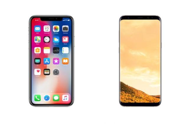 iPhone X vs Galaxy S8 display OLED