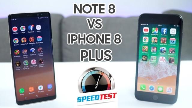Galaxy Note 8 vs iPhone 8 Plus