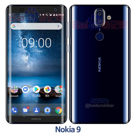 Nokia 9 variante Blu lucido