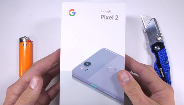 Google Pixel 2 test resistenza