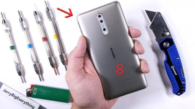 Nokia 8 test resistenza