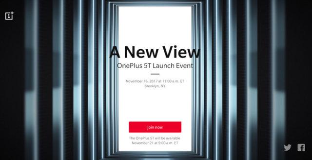 OnePlus 5T data ufficiale dell'annuncio e commercializzazione