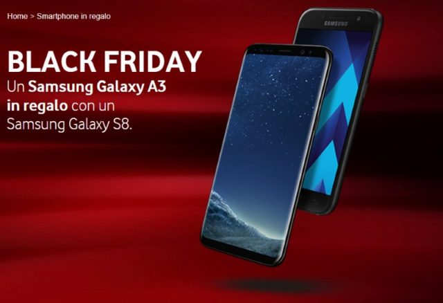 Vodafone regala un Samsung Galaxy A3 2017 per il Black Friday