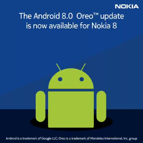 Nokia 8 riceve android Oreo 8.0