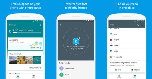 Google Files Go sul Play Store