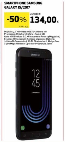 Galaxy J5 2017 prezzo sottocosto