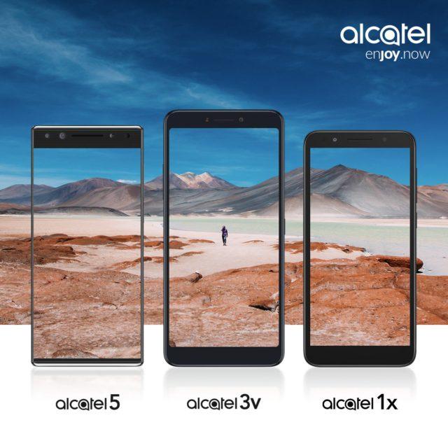 Alcatel 5, Alcatel 3V e Alcatel 1X