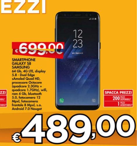 Galaxy S8 prezzo bennet febbraio 2018