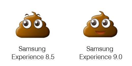 Samsung Experience 9.0 vs 8.5: cambiamenti Emoji
