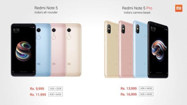 Xiaomi Redmi Note 5 e Note 5 Pro ufficiali: Specifiche, Foto, Prezzi