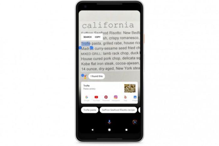 Google Lens su Google Foto in inglese