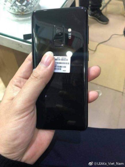 Galaxy S9 socca posteriore nera