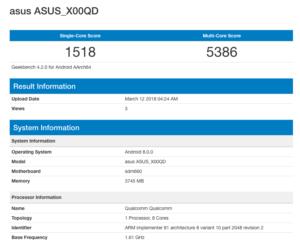 Zenfone 5 Max benchmark
