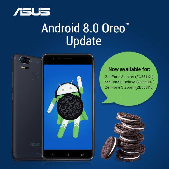 Asus Zenfone 3 Laser, 3 Zoom e 3 Deluxe: ecco quando arriverà Android Oreo