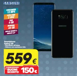 Galaxy S8 Carrefour spendi e riprendi