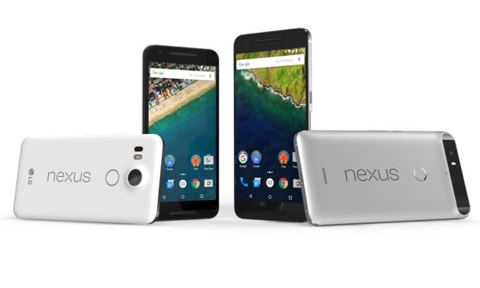 Nexus 6P, Nexus 5X e Pixel C Android P