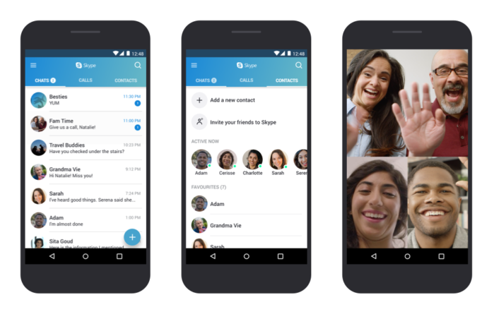 Skype nuovo aggiornamento per Android