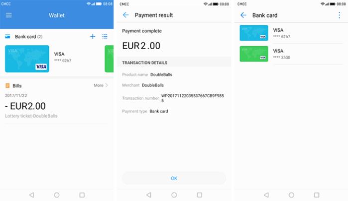 Huawei Wallet in Europa