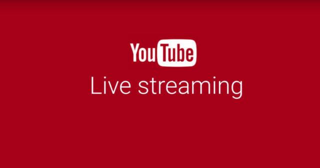Rivoluzione Youtube: potrete effettuare streaming direttamente dall'App camera