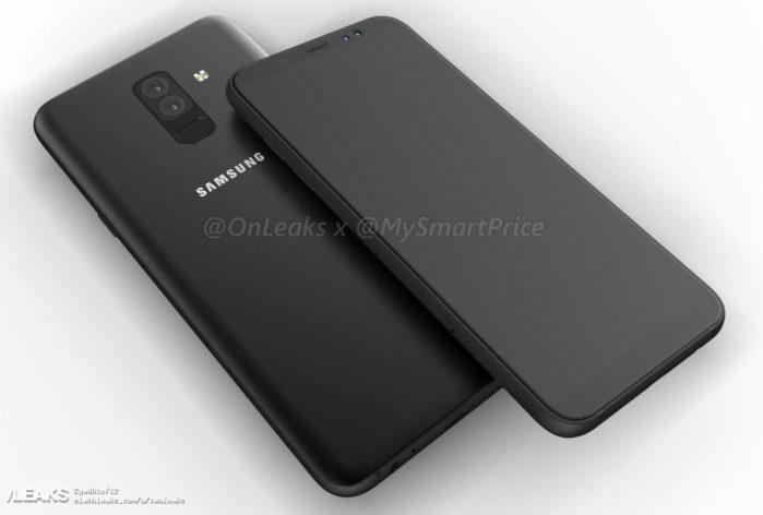 Galaxy A6 Plus video render 3D