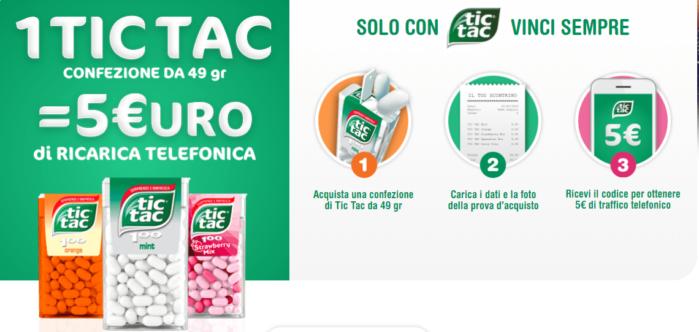 Ricarica telefonica gratis Tic Tac
