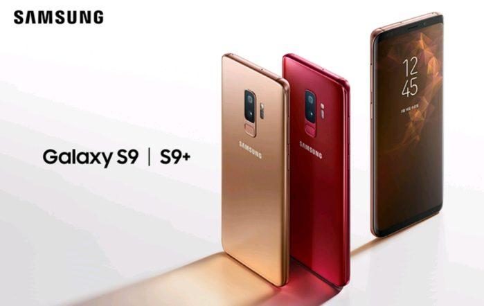 Galaxy S9 e S9+ Rosso Borgogna e Sunrise Gold