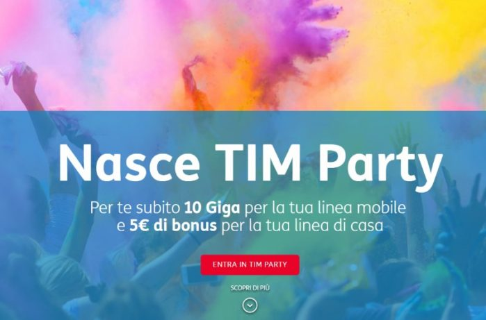 TIM Party il cone di vodafone happy