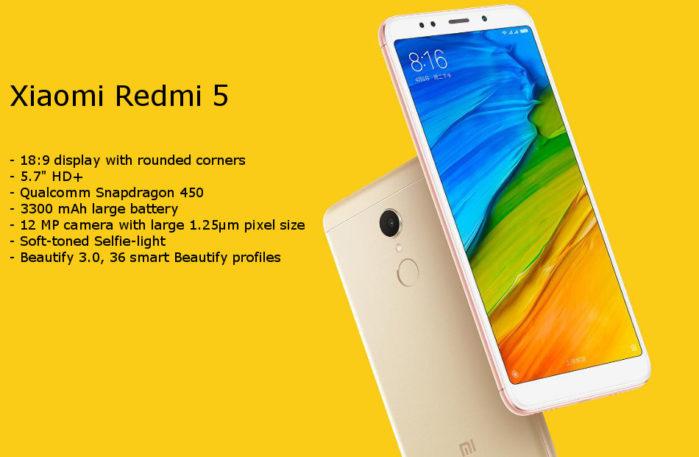 Xiaomi Redmi 5 prezzo offerta con Coupon