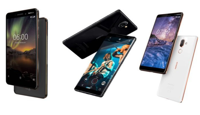 Nokia 8 Sirocco, Nokia 7 Plus, Nokia 6 2018 Face Unlock