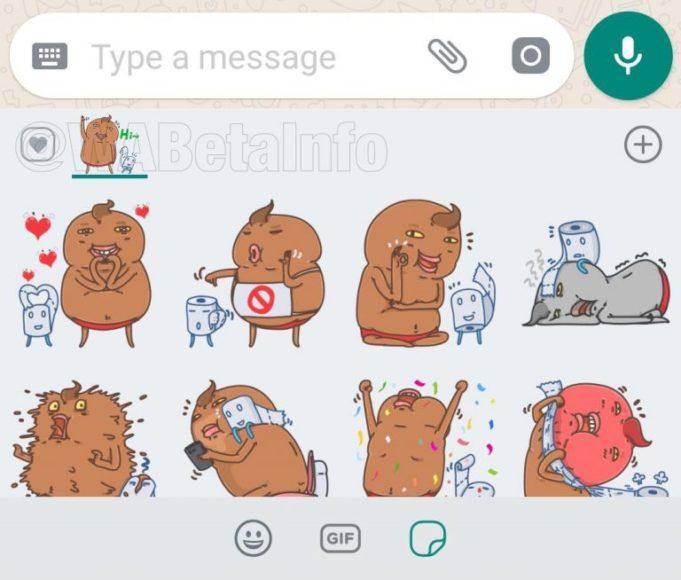 WhatsApp Beta per Android adesivi con reazioni