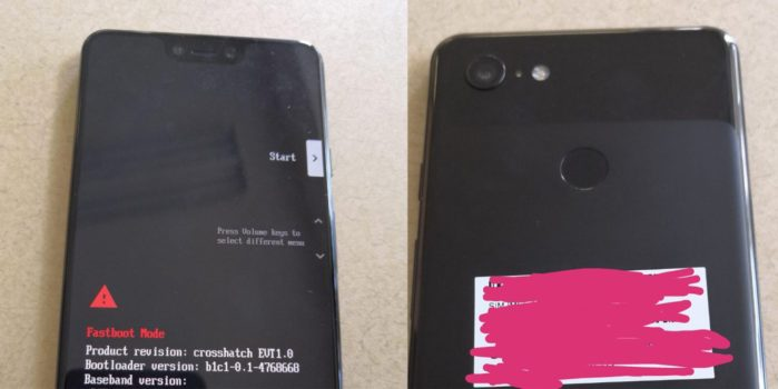 Google Pixel 3 XL svelato?