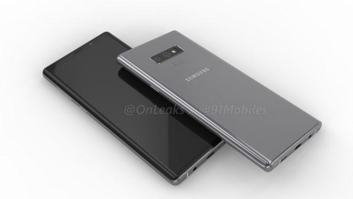 Galaxy Note 9 design ufficioso: le differenze con Galaxy Note 8
