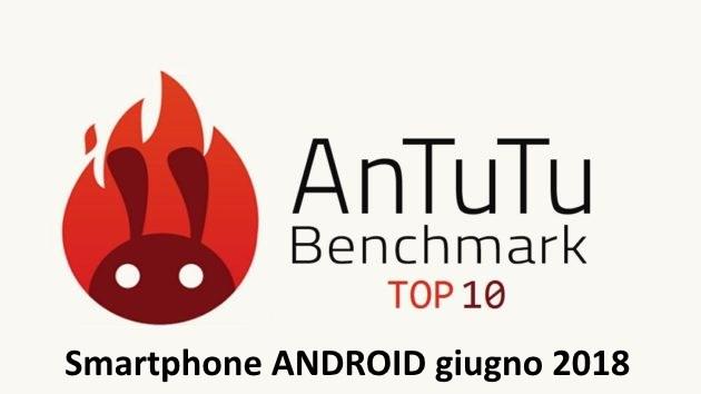 Smartphone android più veloci AnTuTu Giugno 2018