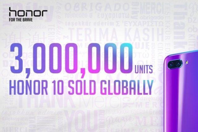 Honor 10: 3 milioni di esemplari venduti