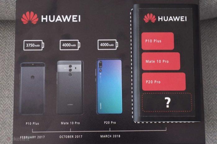 Huawei Mate 20 pro rumors: batteria più potente di sempre?