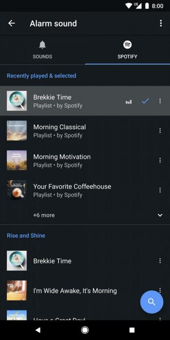 Spotify su Google Orologio