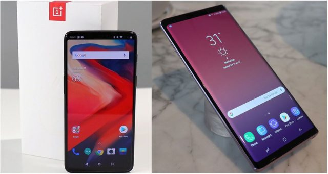 Note 9 vs OnePlus 6