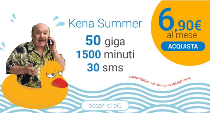 Kena Summer: offerta vs Iliad e Ho. Mobile